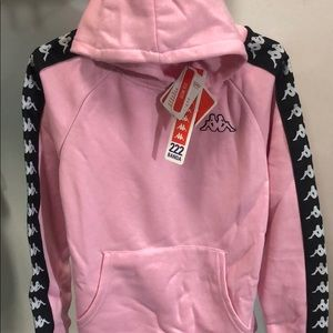 NWT KAPPA Kids jacket coat pullover hoodie pink